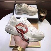2021 رجالية حجر الرايون عارضة الأحذية أبي الرياضية الأحذية باريس أزياء المرأة شو es منصة الرياضة s الفراولة الحقيبة النمر صافي طباعة مربع