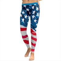 Longitud completa S a Womens Legging 4xl American Flag Impresión Fitness Leggins 6 Patrones