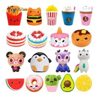 US Stock Fridch Panda Squishy Cake Hirsch Milch Squeeze Spielzeug Slowing Sahne Duft Antistress Kind Kind Baby Lustige Spielzeug
