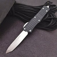 On Sale! Automatic Tactical Knife D2 Steel Tanto Point Blade 6061-T6 Handle Outdoor Survival EDC Knives With Nylon Bag