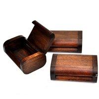 الرجعية خشبية مسواك مربع الإبداعية شخصية القطن خشبي مربعات مستنقع مسواك حاوية يمكن مصنع بالجملة HWD7533