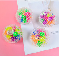 24 pcs Sensory Fingers toys 6cm color bead ball TPR rubber d...