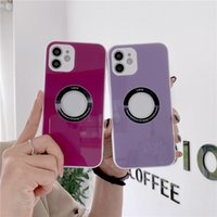 Tempered glass Phone Cases for iPhone 12 11 Pro Max XS XR case Lens Soft TPU Camera Protection