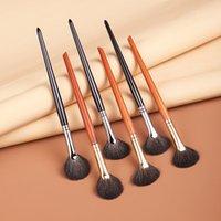 Professional Black Handle Soft Wool Blush Makeup Brushes Set Diamond Face Fan Powder Brush High Quality Cosmetic Tool 1251
