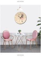 Новые деревянные напечатанные фото настенные часы Прекрасная девушка Reloj de Pared Детская комната окружающая среда Silent Horloge Y200109 744 K2