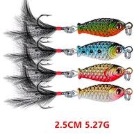 1 stück 4 farbe gemischt 2,5 cm 5,27g Blei Kopf Jigs Metallköpfe locken Angelhaken 8 # Höhenhaken Pesca Angelgerät FS-249