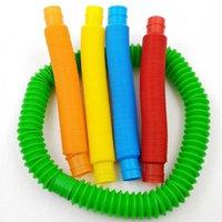 Toys 2021 decompression Pop tube color stretch plastic pipe telescopic bellows children's vent