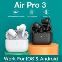 para airpoddings pro 3 controle de toque fone de ouvido sem fio TWS Bluetooth Headset Esportes Headset 300mAh Caixa de carregamento para Apple Android