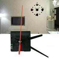 Horloges murales Mécanisme de mouvement de quartz à grande horloge silencieuse Mécanisme de réparation de mains noires et rouges Kit de réparation ensemble avec crochet de haute qualité