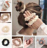 Woman Elegant Pearl Hair Ties Beads Girls Scrunchies Rubber Bands Ponytail Holders Hair Accessories Elastic Hair Band Rope Scrunchy