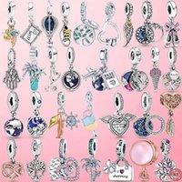 925 Sterling Silber Funkelnde Familie Baum Baumeln Charme Perlen Fit Original Pandora Armband Anhänger Halskette DIY Schmuck