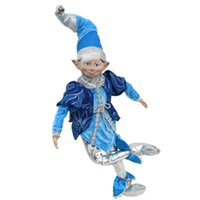 """12"""" - 20"""" elf doll plush toys holiday party supply on a shelf Christmas tree decoration family gifts G0915"""