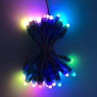 50 adet DC5V Adreslenebilir WS2811 Tam Renkli LED Piksel Işık Modülü 12mm IP68 Su Geçirmez RGB Renk 2811 IC Dijital LED Tatil Işık