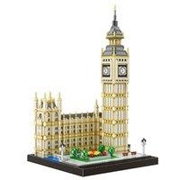 Kit modello 3600pcs Big Ben Building Blocks fai da te puzzle giocattoli di architettura famosa per bambini