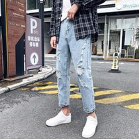Men's Jeans 2021 Baggy For Men Trousers Boy Pants Wide Leg Oversize Denim Overalls Cargo Boys