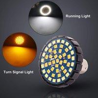 1157 턴 신호 LED 전구 가라딩 조명 키트를 러닝 라이트 키트 용 듀얼 컬러 전면 또는 후면 오토바이 (21White + 27amber)