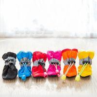 أحدث كلب ناعمة سوليد الأحذية المطر تيدي بومي bixiong لينة سوليد المطر الأحذية الأحذية الكلب القدم غطاء للماء أحذية الحيوانات الأليفة الكلب الملابس ZC108