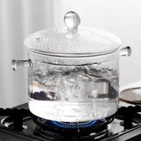 Bowls Household Glass Cooking Pot Heat-resistant Soup Transparent Salad Instant Noodle Bowl Kitchen Cookware Saucepan