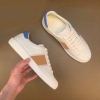 Sneaker Ace Brodé Casual Shoe Italie Vert et Rouge Stripe Stripe Two-Tonyle Designers Designers Chaussures