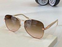 نظارة شمسية أعلى فئة جديدة مكافحة UV100 الأشعة فوق البنفسجية الإطار البيضاوي الرجال والنساء الأخضر الأفعى الذهبي البني نظارات rc 1091 مع حالة نظارات