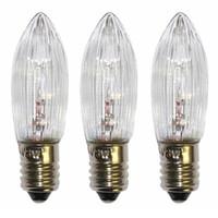 10pcs / pack E10 LED Lámpara de reemplazo de la lámpara de la bombilla de la bombilla para las cadenas de luz 10 V-55 V AC para el baño Cocina Casa BULL JLLBBYV