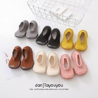 First Walkers Baby Socks With Rubber Soles Infant Sock Born Autumn Winter Children Floor Shoes Anti Slip Soft Sole YYZ-4