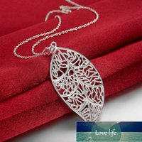 New Design Silver 925 Jewelry Fashion Leaves Of Life Necklace Pendant for women Free