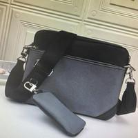 Klasik tasarımcı yeni moda deri erkek omuz çantası ile debriyaj çanta çanta erkek cüzdan rahat messenger çanta