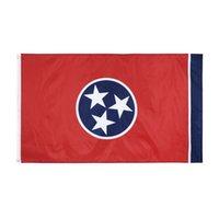 Amerikan devlet bayrakları 3x5 tennessee bayrağı kaliteli toptan kumaş baskı uçan asılı afiş