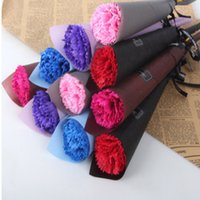 Artificial Rose Carnation Flower Styles Soap Flowers Valentines Day Birthday Christmas Gift For Women Wedding Decoration YHM784-ZWL