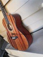 Guitarra acústica personalizada 41inch 324e, guitarra de madeira, corpo de folheado de madeira, Rosewood Fretboard Shell Inaly, Black Binding, BB EQ