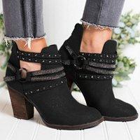 Monersfi женский ботинок женщина высокие клинья каблуки ботильоны для женщин повседневные вечеринки короткие лодыжки ботинки женские ремня пряжки ботинки бедра высоты b c58i #