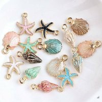 Charms 13 Beautiful Conch Shell Pendant Ocean Starfish Anklet Bracelet Necklace DIY Handmade Craft Jewelry
