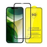9D Full Cover Glue Tempered Glass Phone Screen Protector For iPhone 13 12 MINI PRO 11 XR XS MAX 8 7 6 Samsung Galaxy S21 Plus A32 A42 A52 A72 5G Xiaomi Redmi Note 10