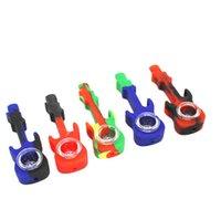 Tragbare Silikon-Wasser-Rohr-Hukahn-Bong-Gitarre-Tabakrauchrohr mit Glasschüssel-Löffel-Rohr GWF8329