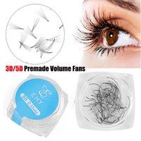 False Eyelashes 80 Fans Box Russia Premade Volume Fan Lashes 3D 5D Mink Natural Extension Long C Curl Handmade