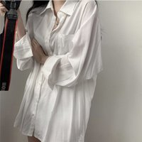 Women's Blouses & Shirts Printed shirts big and fancy size, long-sleeve shirt, big-size shirts, maxi white blouse boys 86E8