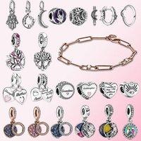 Fahmi 2020 Winter 925 Silver Sparkling Crescent Moon Heart Family Tree Charm Ring Earring Link Chain & Stones Bracelet