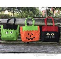 الأطفال الكرتون القط سعة كبيرة حقائب هالوين اليقطين المطبوعة الحلوى حمل اليد سلة أطفال السكر حقيبة واحدة الكتف Q1412