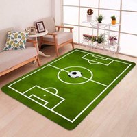 Carpets 60X90cm Football Rug Playmat Floor Mat Carpet Country Club Kids Girls Boy Bedroom Playroom Grass Field Area