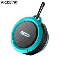 Victsing C6 Outdoor Wireless Bluetooth Stereo Portable Speaker Inbyggd MIC Shock Motstånd IPX4 Vattentät högtalare med bas