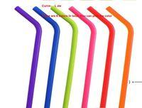 Silicone Straw Food Grade 24 estilos Dobrável Silicone Beber Palha Viagem Colapsible Straight Straight Straw Party Bar Acessórios Hha8044
