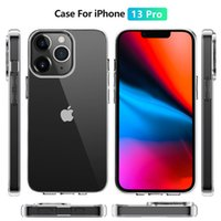 Simple Transparent TPU Phone Cases For Apple iPhone 13 Mini Pro Max PC Protection Clear Case Cover