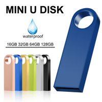 Metal Memoria USB Flash Drive 32GB Pendrive 128GB 64GB Waterproof Pen Drive 16GB 8GB Flash OTG 2.0 Cle USB Stick Key Custom Logo