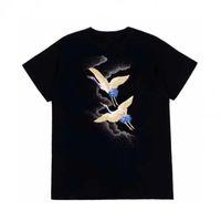 Fashion Mens T Shirt con cappuccio Felpe con cappuccio T Shirt Maglione di alta qualità Mens Stylist T Shirt Hip Hop Uomo Donna Black Short Sleeve Tees