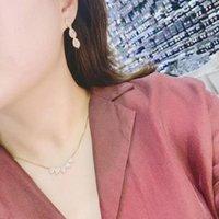 Earrings & Necklace Luxury Water Drop Zirconia Bridal Jewelry Sets For Women Party, Dubai Nigeria CZ Crystal Wedding E9264