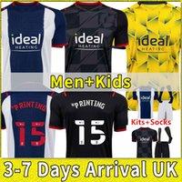 West 21 22 Bromwich Albion Home Fussball Jersey 2021 2022 Away football Shirt Kit Camiseta de Futbol Brom Männer + Kinder Robson-Kanu Uniform Hemden