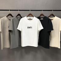 2020 Ins Heißes Frühling Sommer Hip Hop Front Brief Druck 3D Silikon T-Stück Skateboard T-shirt Männer Frauen Kurzarm Casual T-Shirt