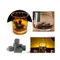 180 pcs / 20 conjunto de alta qualidade pedras naturais 9 pçs / set whisky stones refrigerador rock soapstone stone cubo com veludo s jllgfi outbag2007