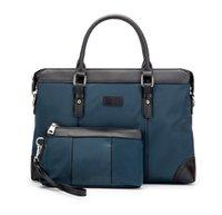 "2 pic Men's Laptop Bags Large Capacity Single Shoulder Bag Fashion handbag women Business Men Briefcase 15"""
